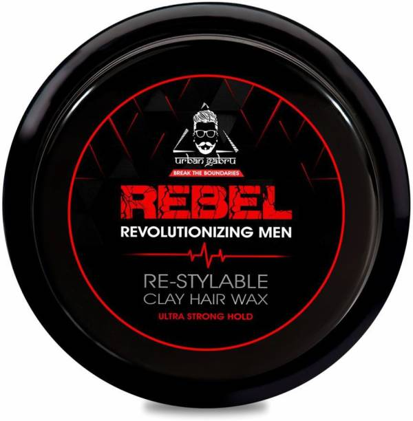 urbangabru Rebel Clay Hair Wax for Instant Re-Styling (100 times) and Ultra Strong Hold - 85 Gram Hair Wax