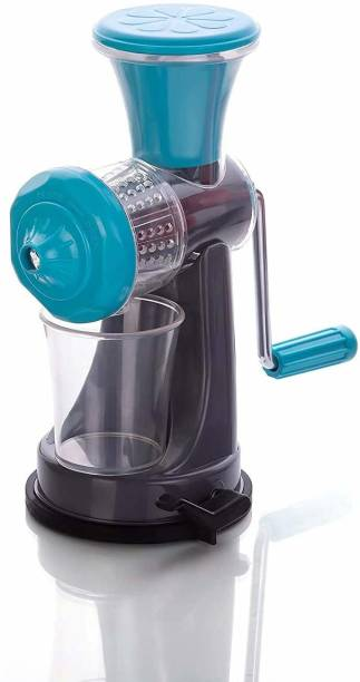 BONIRY Plastic Hand Juicer Fruit and Vegetable Mini Juicer with Waste Collector (Multicolour)