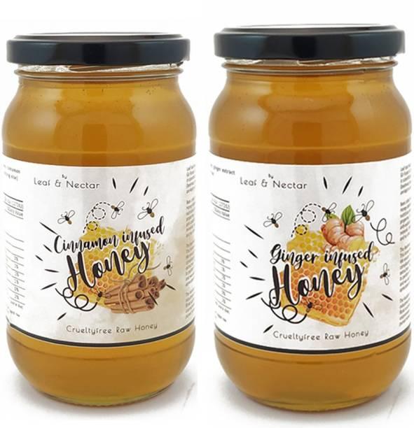 leaf & nectar Ginger & Cinnamon Honey Combo , 530 gm X 2