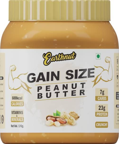 Earthnut Gain Size Crunchy Peanut Butter 1kg (Sweetened) (No Hydrogenated/Palm Oil) 1 kg