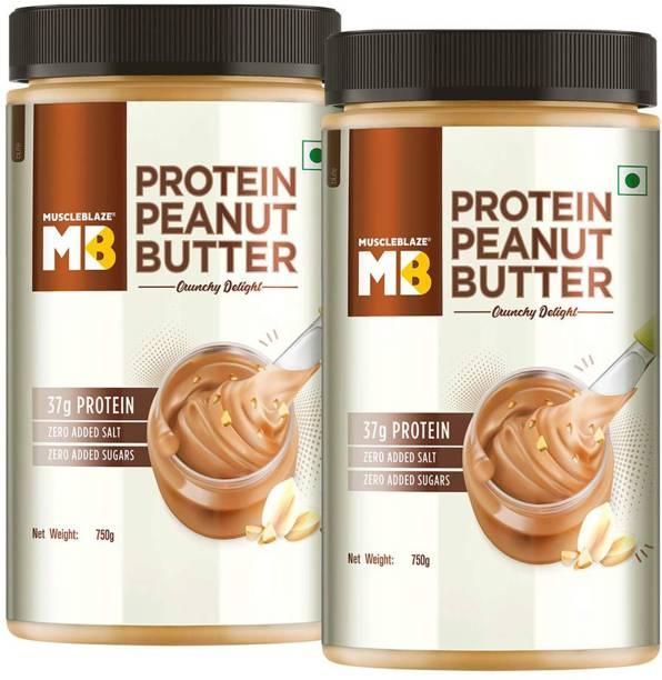 MuscleBlaze High Protein Peanut Butter,Unsweetened Crunchy 1500 g