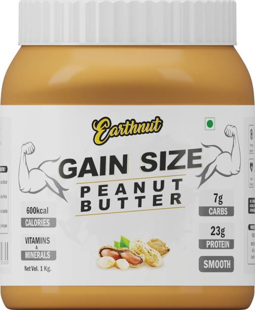 Earthnut Gain Size Smooth Peanut Butter 1kg (Sweetened) (No Hydrogenated/Palm Oil) 1 kg