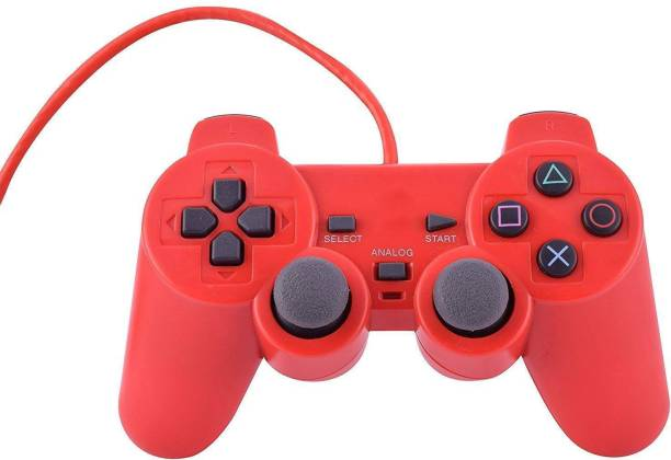 Clubics PS2 WIRED CONTROLLER RED COLOR (For PS2)  Motion Controller