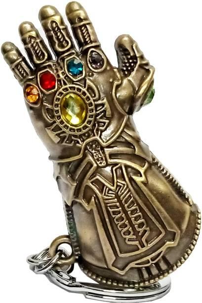 eweft Thanos Hand Gauntlet Superhero Marvel Avengers Infinity War 3 Bronze Key Chain