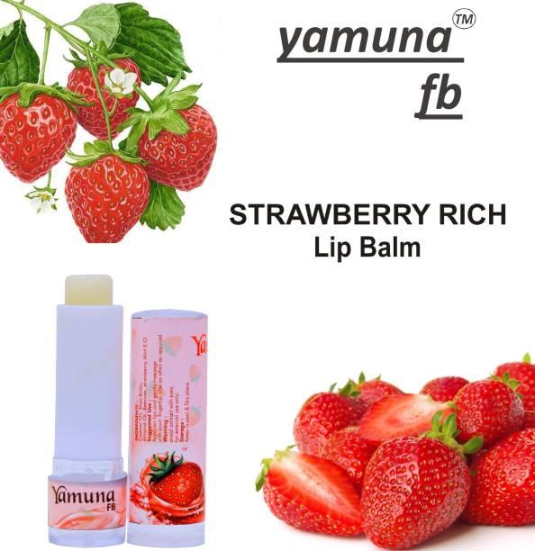 yamuna fb 100% Naturals herbal Strawberry lip care Lip Balm( 4 gm )( pack off 1) Strawberry