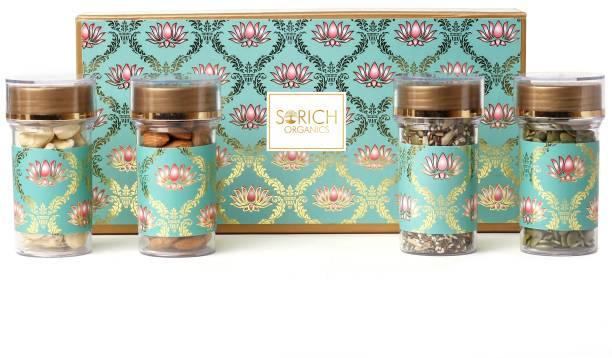 Sorich Organics Super Healthy Nutty Delight Gift Hamper - Cashew, Almonds, Pumpkin, Seeds Mix, Dry Fruits Diwali Combo