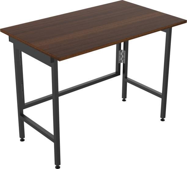 InnoFur Aplos Folding Desk/Folding Table/Study Table/Laptop Table Large (Brown) Engineered Wood Study Table