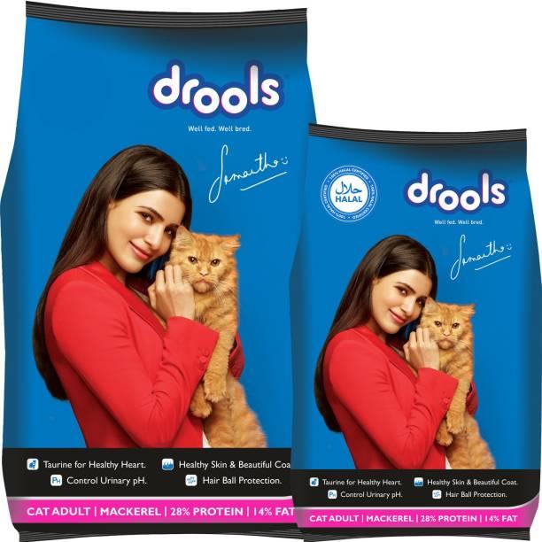 drools 1.2 kg Cat Food free with Drools 3 kg Mackeral 4.2 kg Dry Adult Cat Food