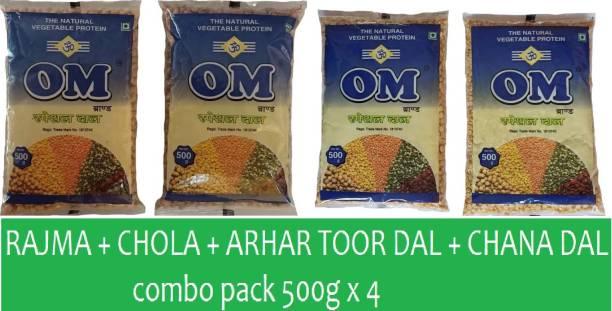 OM Combo (Arhar toor dal, Chana dal, Rajma, Chola)