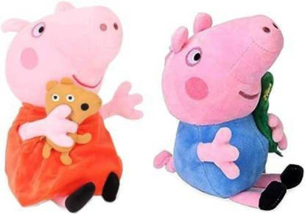 RDA Collection RDA Peppa pig George Pig Stuffed Soft Toy Gift for KIDS  - 25 cm