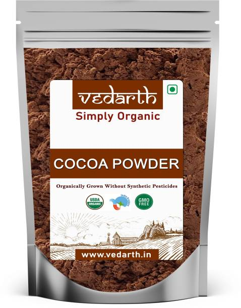 Vedarth 100% Natural Cocoa Powder 100gm (Unsweetened) for chocolate drinks / cake & Cake Baking Cocoa Powder