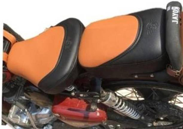 GRILLO Bullet Stylish seat cover Black & Tan For Royal Enfield Classic , 350 Split Bike Seat Cover For Royal Enfield Classic 350