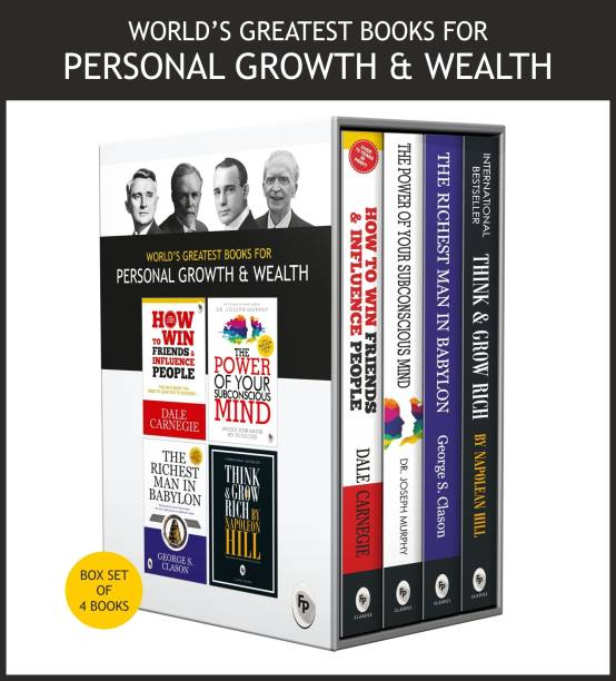 World�s Greatest Books For Personal Growth & Wealth (Set of 4 Books) : Perfect Motivational Gift Set