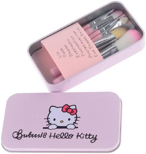 Butees18 Hello Kitty Makeup Brush Set 7Pc Makeup Mini Brush Kit