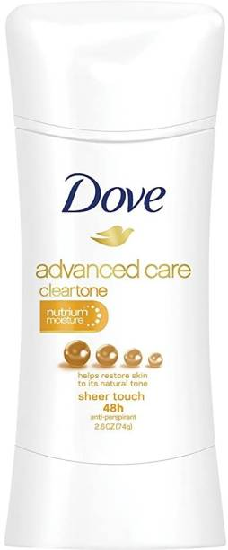 DOVE Advanced Care Clear Tone Sheer Touch Anti Perspirant - 2.6 Oz Deodorant Stick  -  For Women