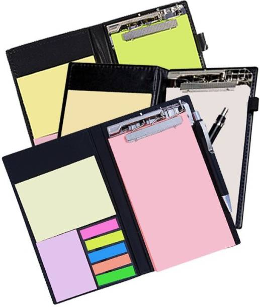 COI Memo Neon/White and Coral Note Pad Organiser/Memo Notebook Holder for Office and Gifting Purpose(Set of 3) Pocket-size Memo Pad UNRULED 50 Pages