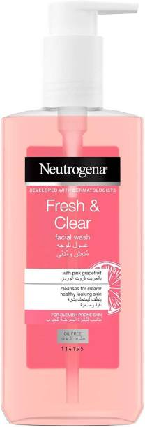 NEUTROGENA Fresh & Clear Facial wash with Pink Grapefruit Face Wash
