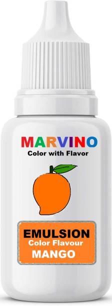 Marvino Emulsion Flavored Color for cakes icecreams pastries whipcreams Jellies Candies Mango flavor color Mango Liquid Food Essence