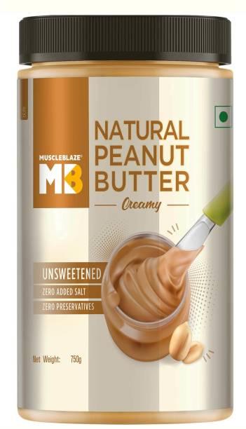 MuscleBlaze Natural Peanut Butter, Creamy 750 g