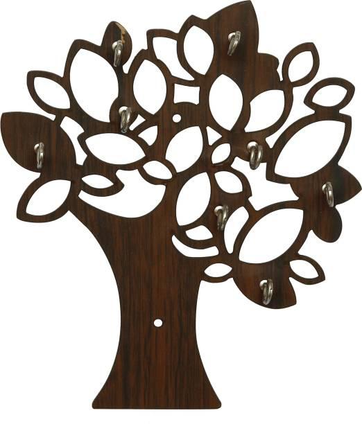 JaipurCrafts Tree Designer 7 Hooks For Home/Wall Decor Wood Key Holder