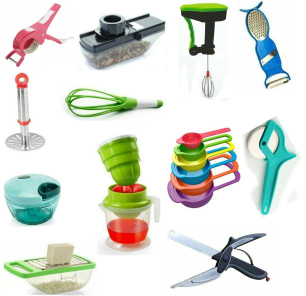 RINK N JASH COMBO 1201 MULTI PURPOSE KITCHEN TOOL SET Multicolor Kitchen Tool Set