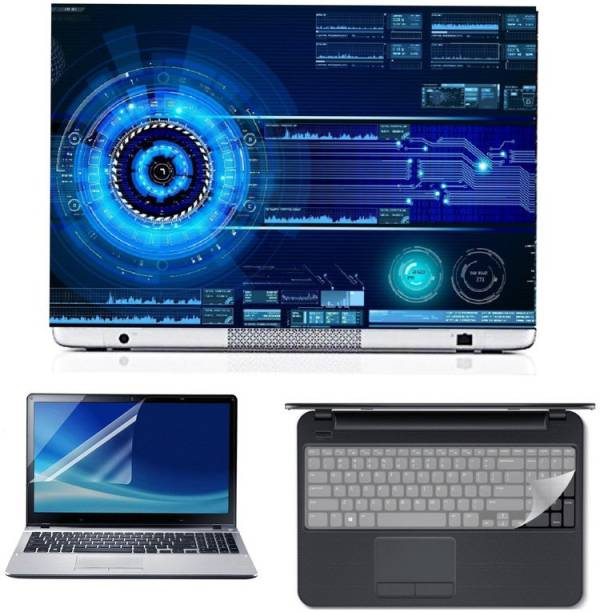 SDM modified technology hacking them ultra hd printed 3d laptop skin sticker with screen card , key guard Combo Set
