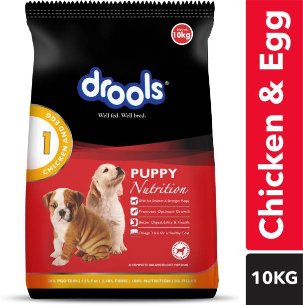 drools Puppy Egg, Chicken 10 kg Dry Young, New Born Dog Food