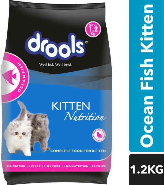 drools Kitten(1-12 Months) Ocean Fish 1.2 kg Dry Young Cat Food