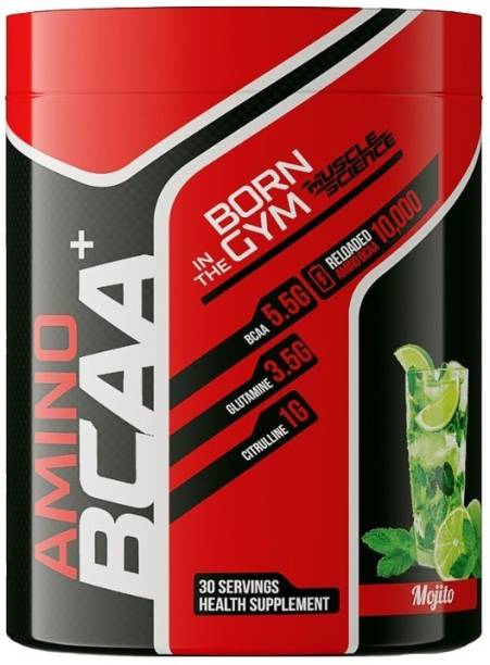 Muscle Science AMINO BCAA Plus 30 Serving (5.5g of Amino Acids, 3.5g Glutamine, 1gm Citrulline) BCAA