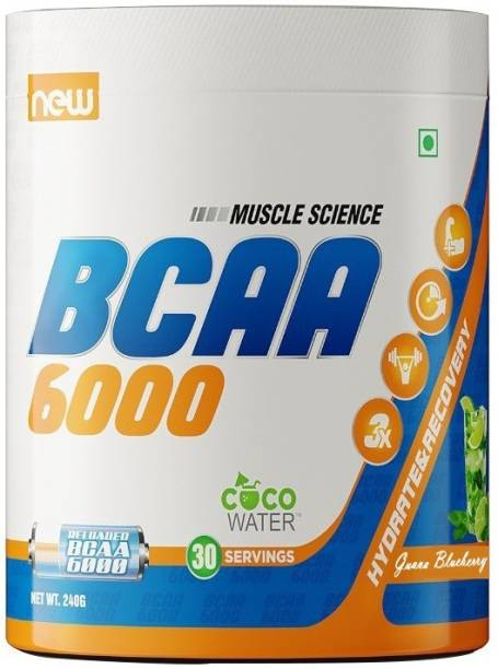 Muscle Science BCAA 6000, Muscle Recovery & Endurance BCAA Powder, Caffeine Free, 30 Serving BCAA