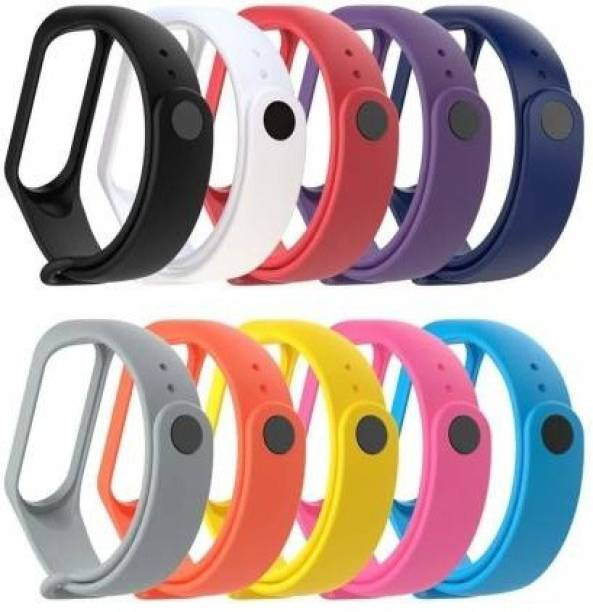 Like Star Soft Silicon Replacement Band Strap Band 3 & 4 (blk,wht,red,prpl,navyblue,grey,orng,yelo,pink,skyblu) Smart Band Strap