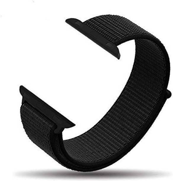 PHONETASTIC Nylon Sport Loop Replacment Band Strap-Black Smart Watch Strap