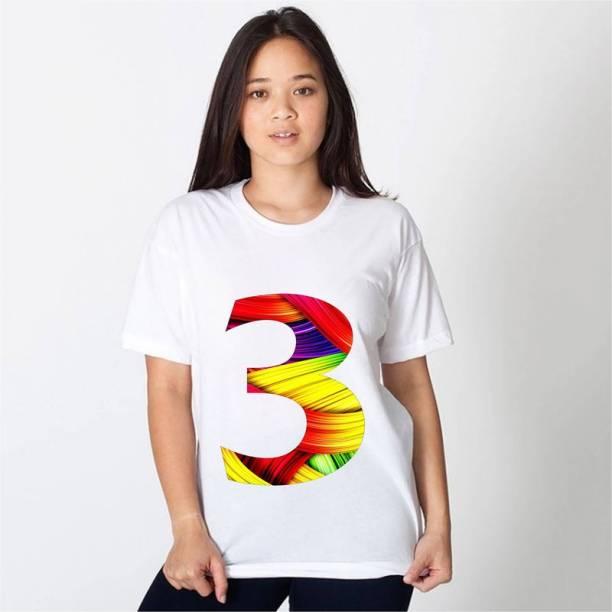 hamsa print world Printed Women Round Neck White T-Shirt