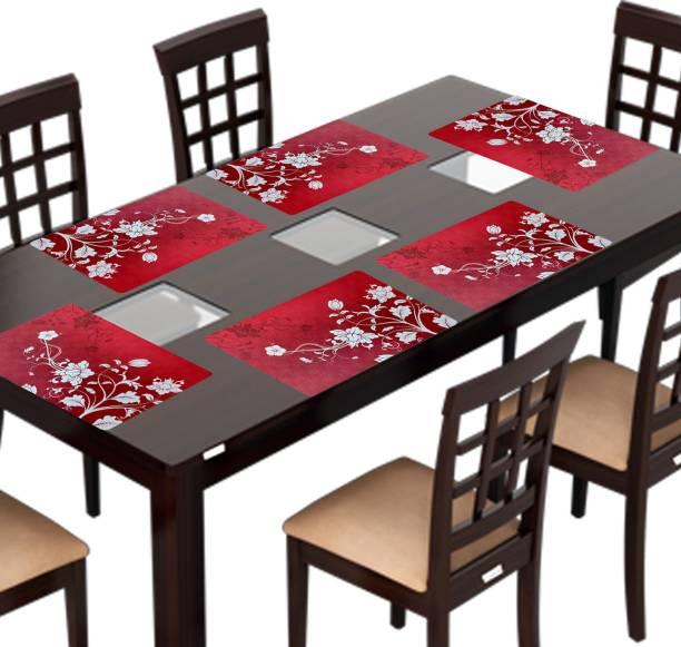 KANUSHI Rectangular Pack of 6 Table Placemat