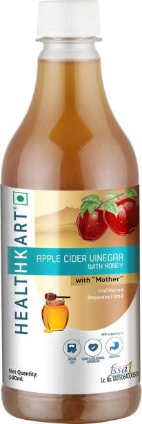 HEALTHKART Apple Cider with Mother- Natural, Raw, Unfiltered with Honey Vinegar