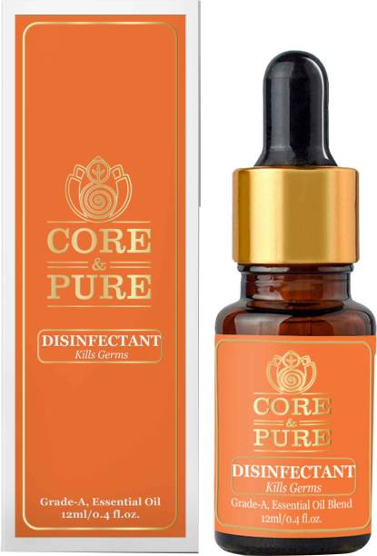 CORE & PURE Disinfectant Oil for Germs, Viruses, Bacteria free Surfaces & Surroundings, Natural Essential Oils Blend, Ayurvedic