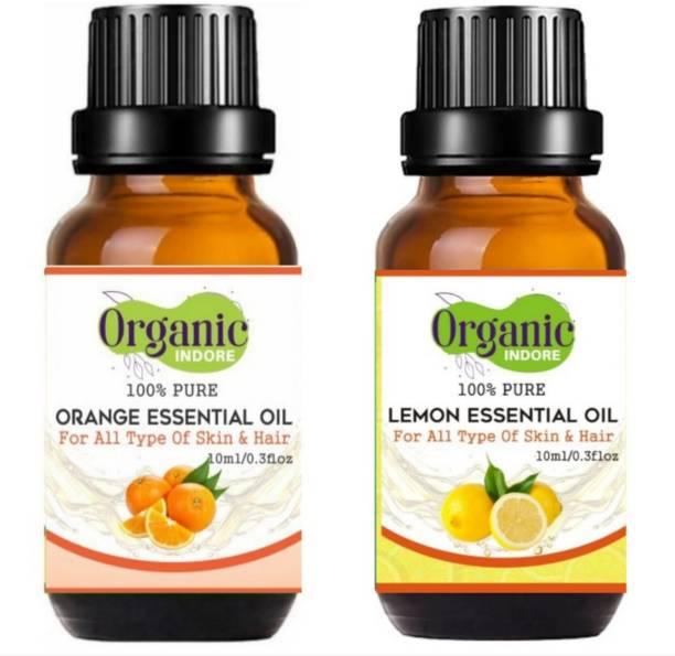 OrganicIndore Lemon oil and Orange oil for skin and hair
