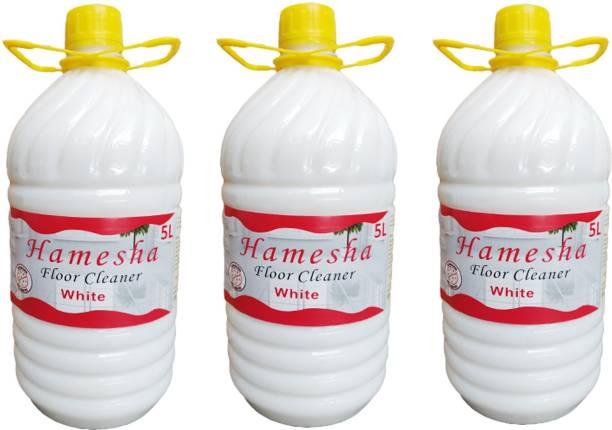 HAMESHA 15 Litre Neem Fragrance White Phenyl Disinfectant, Premium Best in Quality Gives Shine on the floor with Natural Neem Fragrance (5X3) Neem