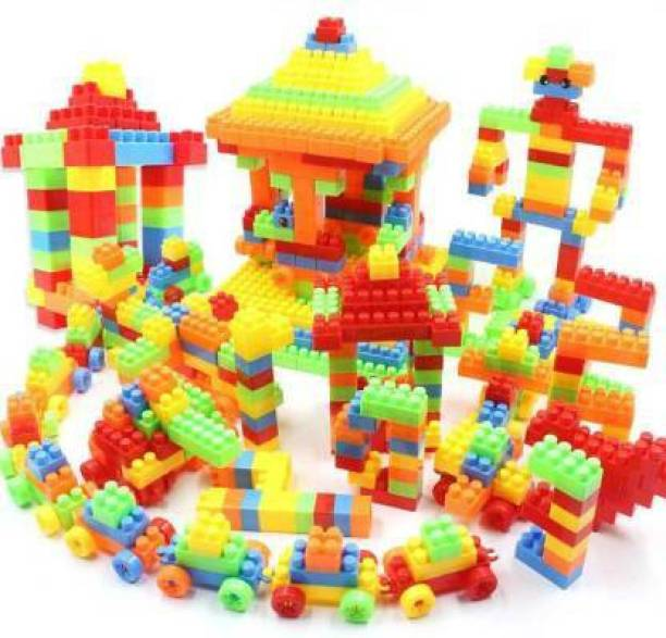 monakarshti New arrival 100 Pieces, 20+ Activities Colorful Plastic Building Blocks for Children Puzzle Educational Toy Gift Develops skills and hand-eye coordination (Multicolor)