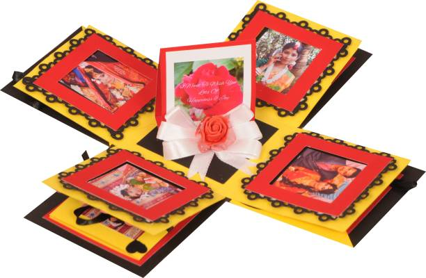 CRAFTED WITH BEAUTY AND ARTS Explosion box for Valentine's day ,Anniversary Or Birthday, gift box for any occasion ( A Special Person) Greeting Card