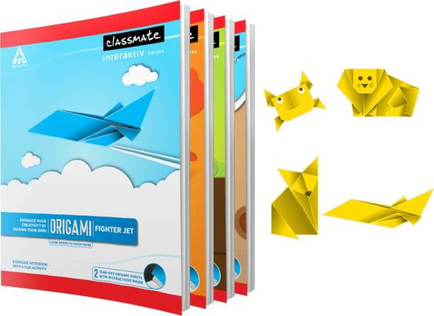 Classmate Origami 24 x 18 cm Book-size Notebook Single Line 172 Pages