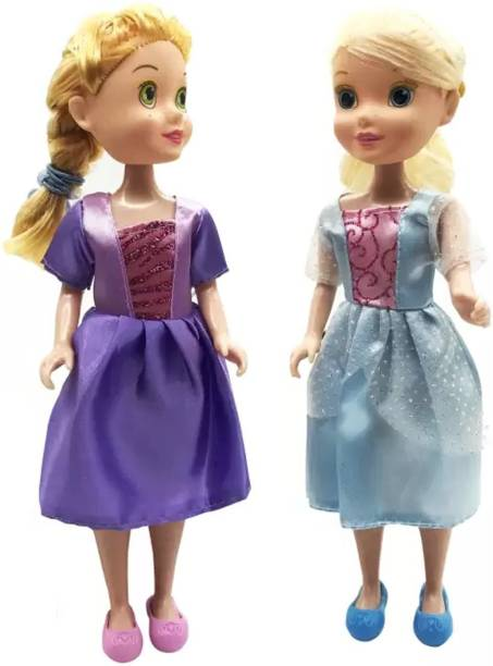 Little Joy Pretty Sisters Dolls Toy with Long Hairs and Fashion Accessories