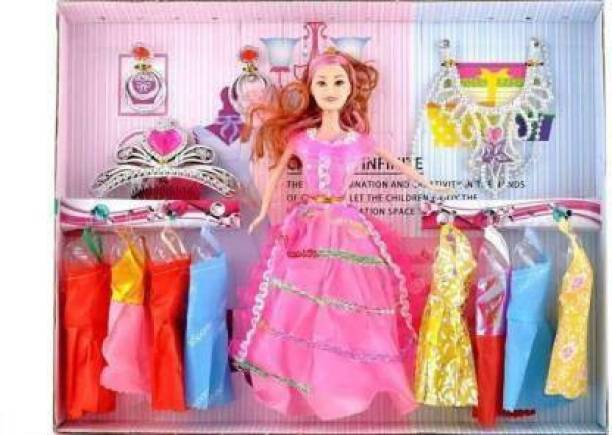 monakarshti Fashion Doll with Beautiful Accessories and Clothes