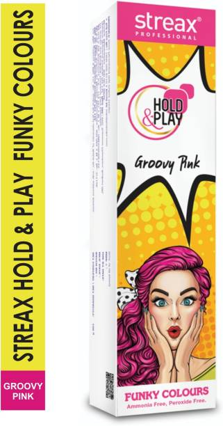 Streax Hold & Play Funky Colours Crazy-Groovy Pink , Groovy Pink