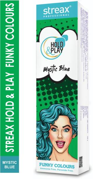 Streax Hold & Play Funky Colours -Mystic Blue , Mystic Blue
