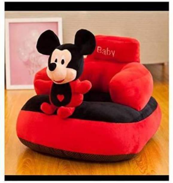 Shanshu Baby Micky Face Shape Soft Cushion Baby Sofa (Multicolor) - 45 cm (malticolor)  - 40 cm