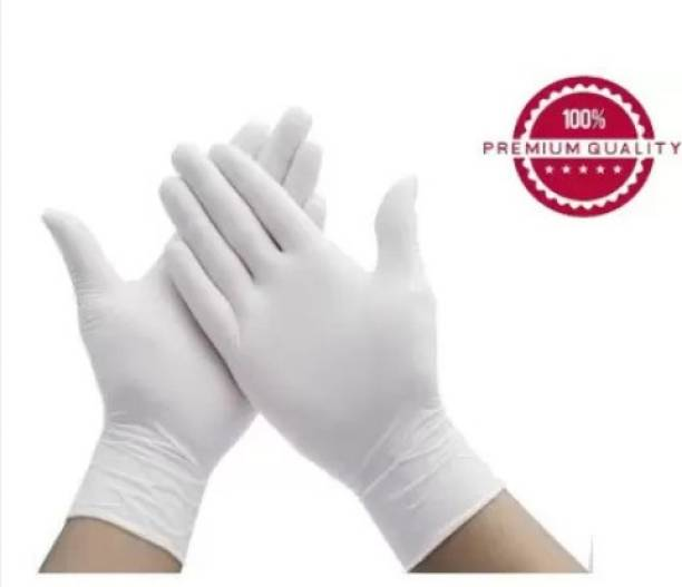 BBEST Disposable Latex White gloves Latex Gloves Hand Protection Rubber Surgical Glove for Hospital, Clinic, Sanitary & Kitchen Latex Surgical Gloves (Pack of 30) Latex Surgical Gloves
