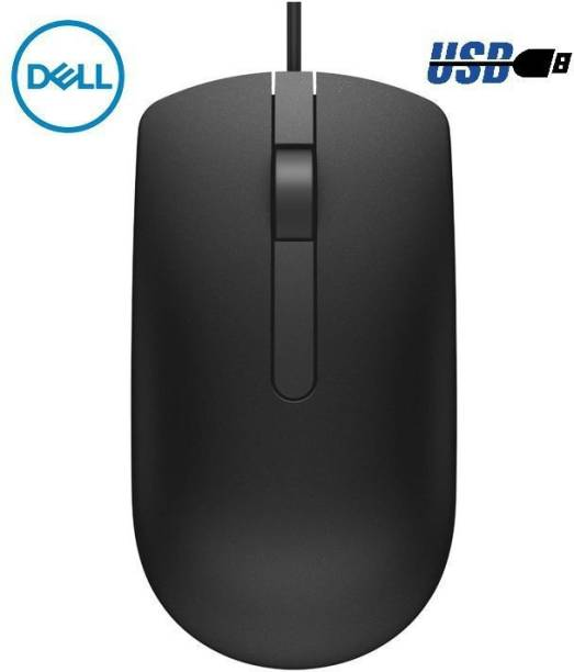 DELL MS 116 3 Years Wired Optical Mouse