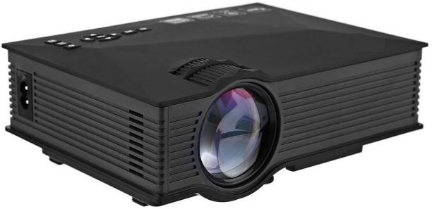 Torexo Sales UC46 FullHD 1080P Supported LED Projector, WiFi/ AV/ USB/ SD/ VGA/ HDMI/ Miracast/ YouTube Home Cinema 1800 lm LED Corded Portable Projector