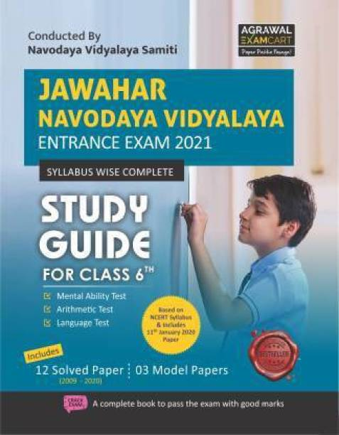 Jawahar Navodaya Vidyalaya (JNV) Class 6 Entrance Exam Complete Guidebook With Solved Papers In English